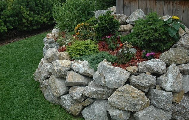 garten steinmauer selber bauen – usblife, Terrassen ideen