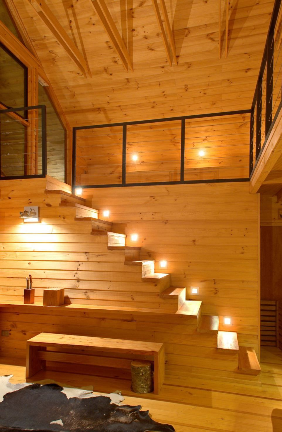 Tiny House Plans With Loft   Love The Stair Lighting Able To See To Get