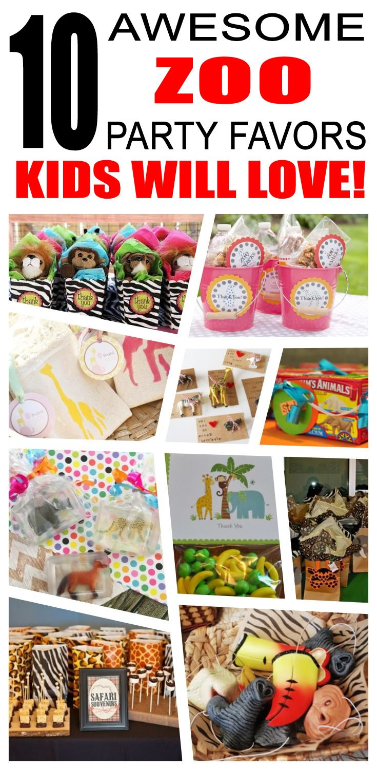 Zoo Party Favor Ideas Zoo birthday Party favour ideas and Loot bags