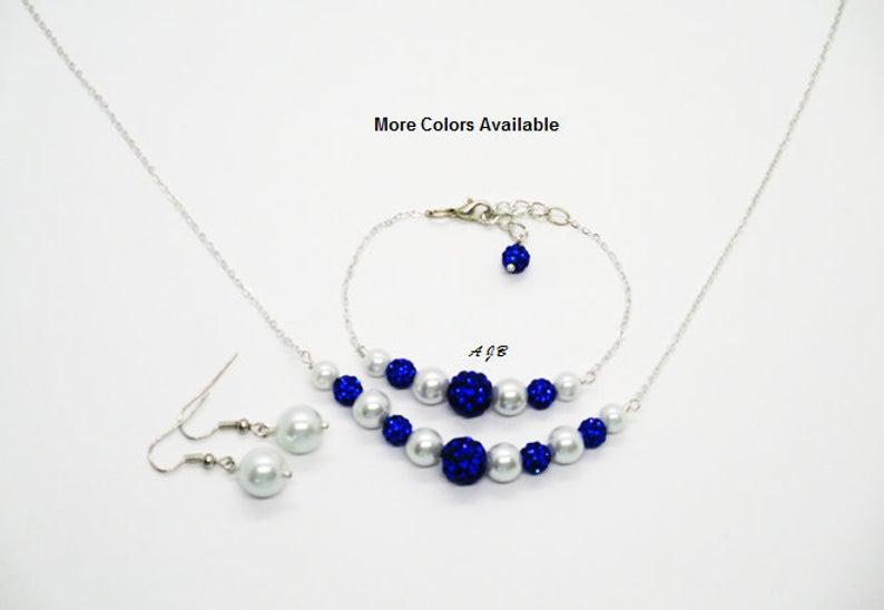 Bridal Party Gift Bridesmaid Aquamarine Blue Pearl Jewelry Set Bridesmaid Gift Bridal Gift Maid of Honor Gift Wedding Party Gift