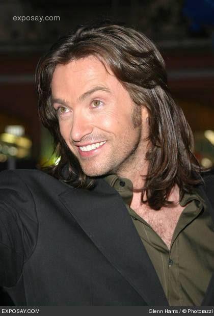 Hugh With Long Hair Wolverine Hugh Jackman Hugh Jackman Long Hair Styles Men