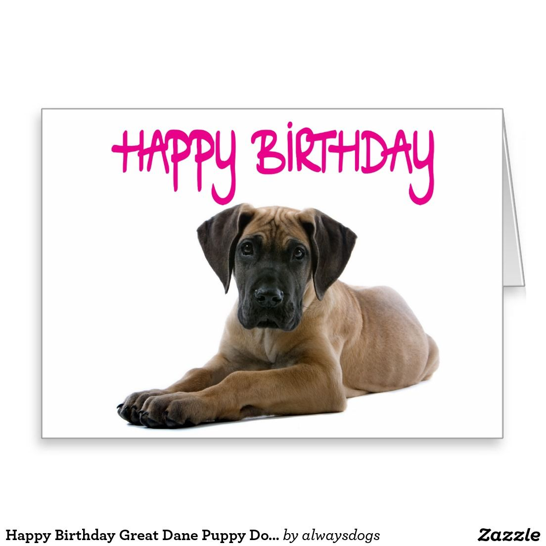 To From Pet Dog Great Dane Personalised Birthday Card