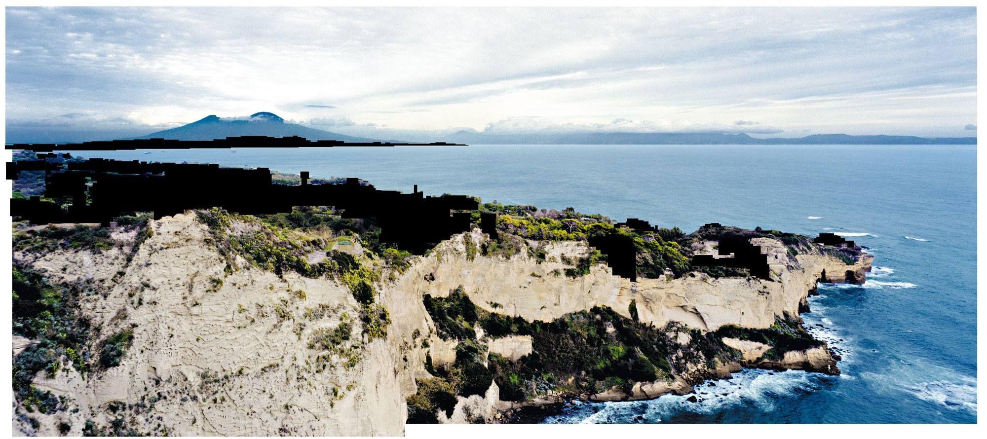 Beniamino Servino. Anonymous seascape. [Based on a photo by Francesco Jodice].