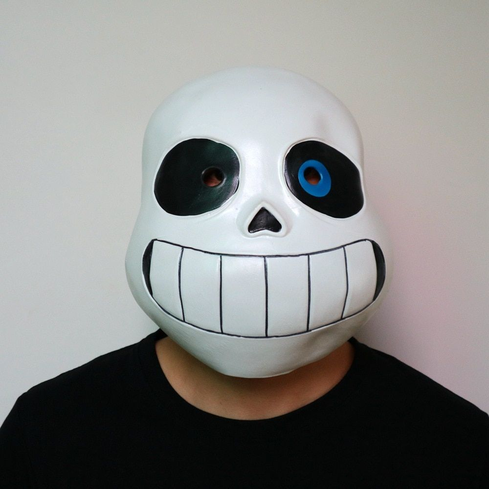 Sans Cosplay Jacket Latex Mask 2pcs Set Undertale COOL SKELETON Cos Blue Hoodies