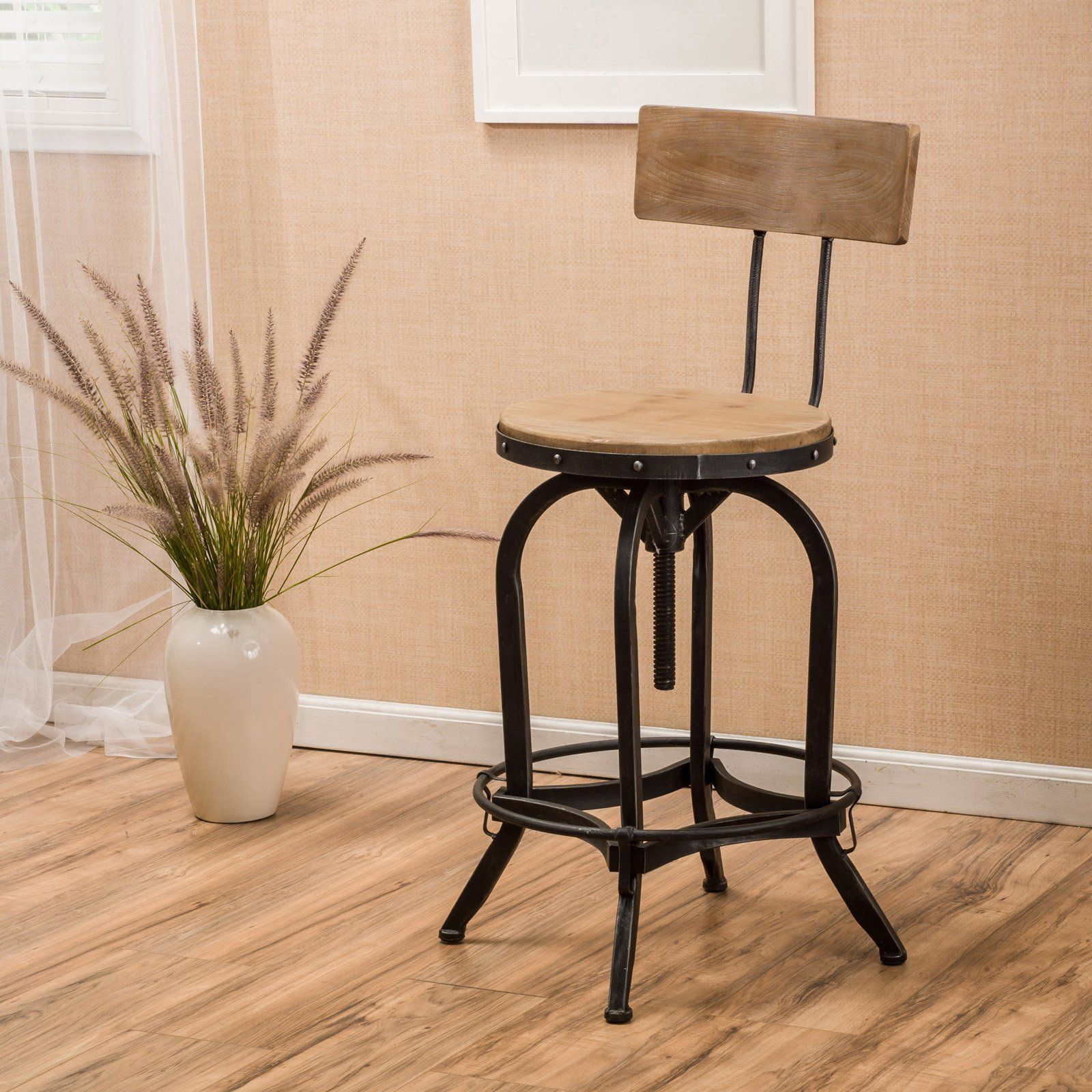 Brandon Swivel Bar Stool Wood Bar Stools Bar Stools