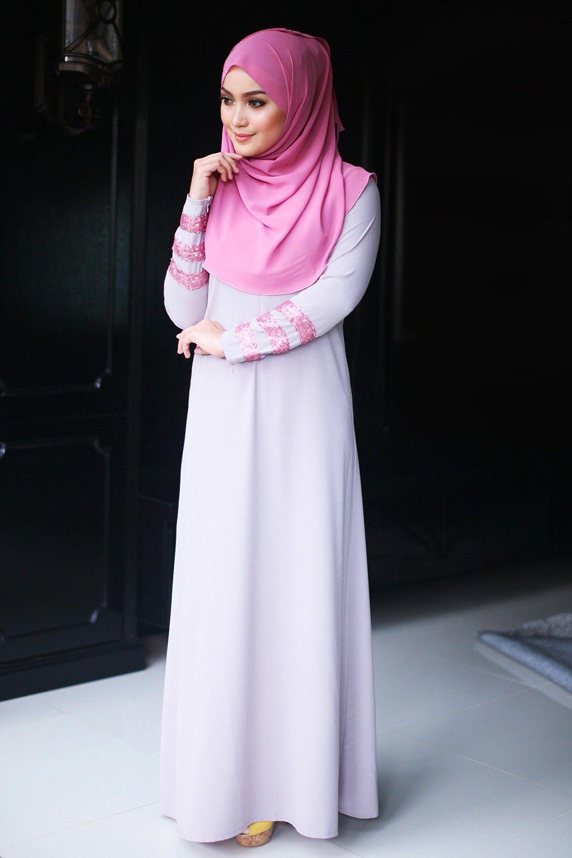 6c86284ae171 HUMAIRA Grey Nursing Friendly (Petite) Modest Fashion