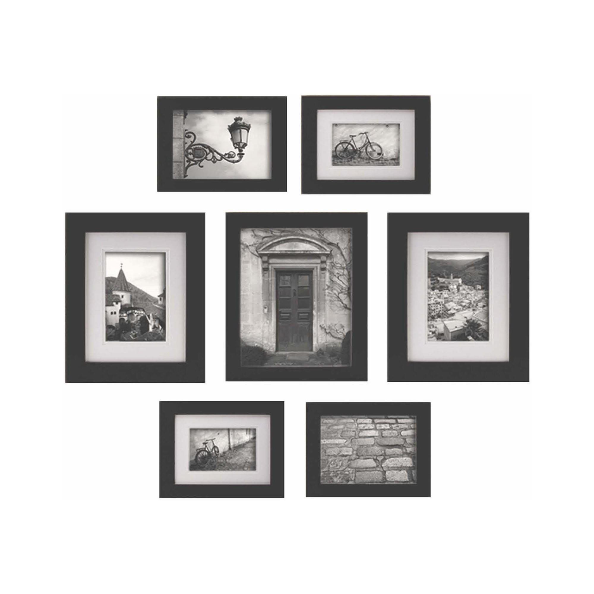 7pc Multi Size Wall Frame Set Black Gallery Perfect Wall Frame Set Frames On Wall Picture Frame Wall