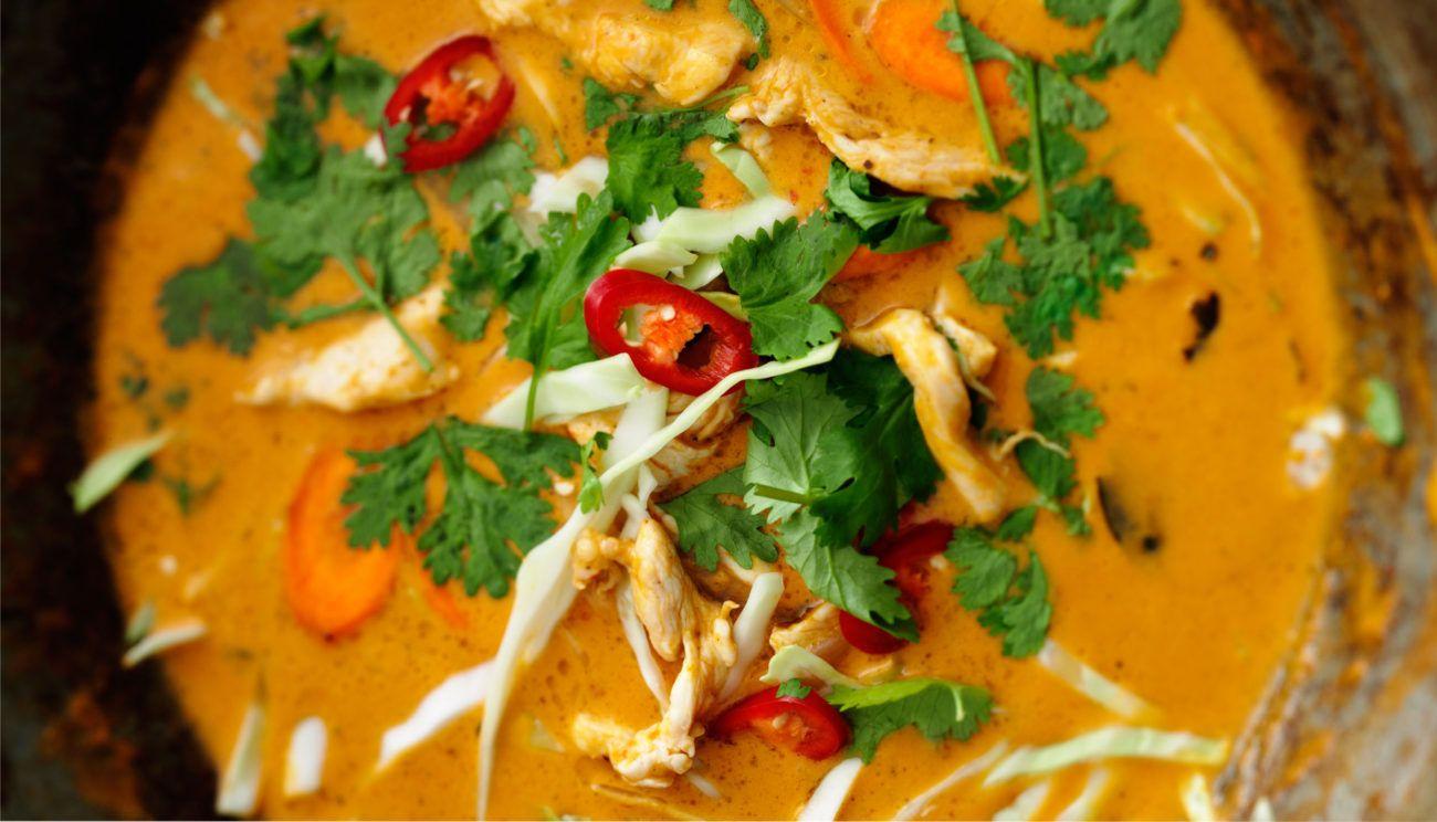 thai kylling rød karry