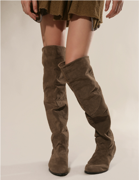 2015 spring soft slouchy suede over the knee boots - thigh high ...