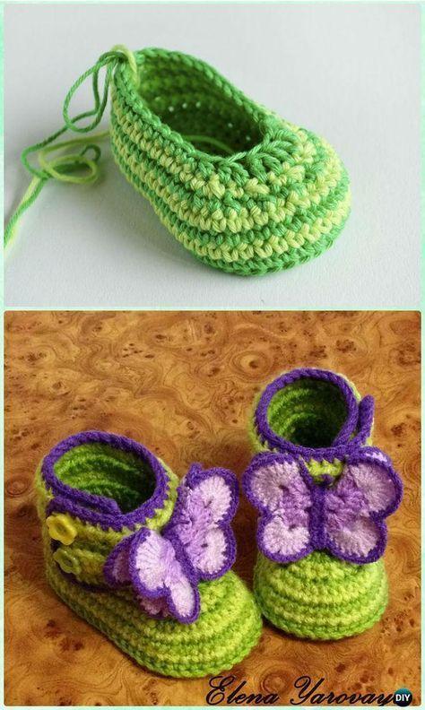 Crochet Zebra Baby Booties Free Pattern-Crochet Ankle High Baby ...