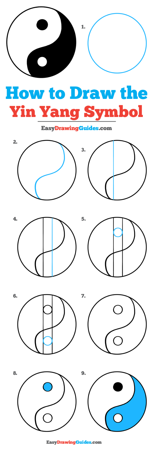 How To Draw The Yin Yang Symbol Really Easy Drawing Tutorial Drawing Tutorial Easy Drawing Tutorial Yin Yang