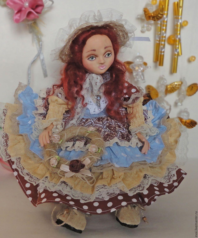 Купить Стефания - комбинированный, кукла ручной работы, Будуарная кукла, кукла в подарок, кукла
