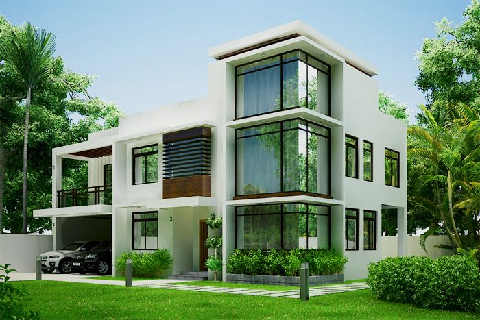 Modern house design by buymyva house on pinterest modern for Small house plans modern design