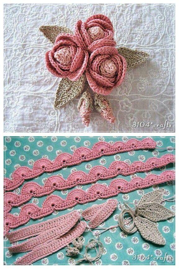 Alina C. | crochet flowers | Pinterest | Tejido, Flores y Ganchillo