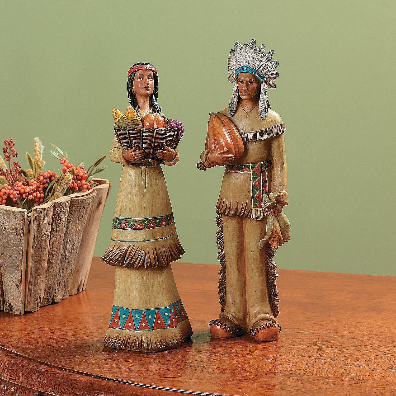 Thanksgiving Native American Couple