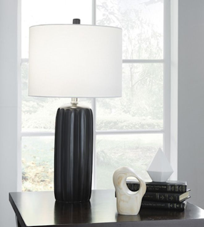 L177934 Adorlee by Ashley Ceramic Table Lamp Set of 2 In Black ...