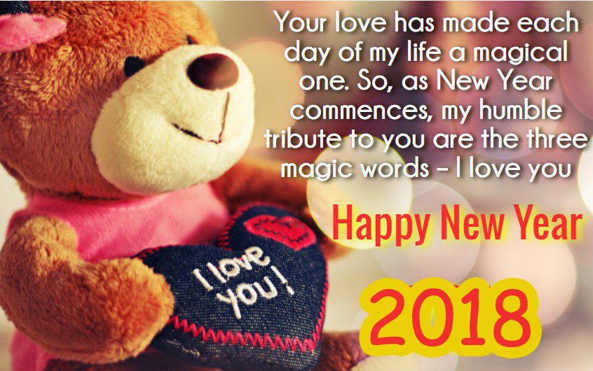 New Year Love Quotes For Her 2018 | Happy New Year 2019 Wishes ...