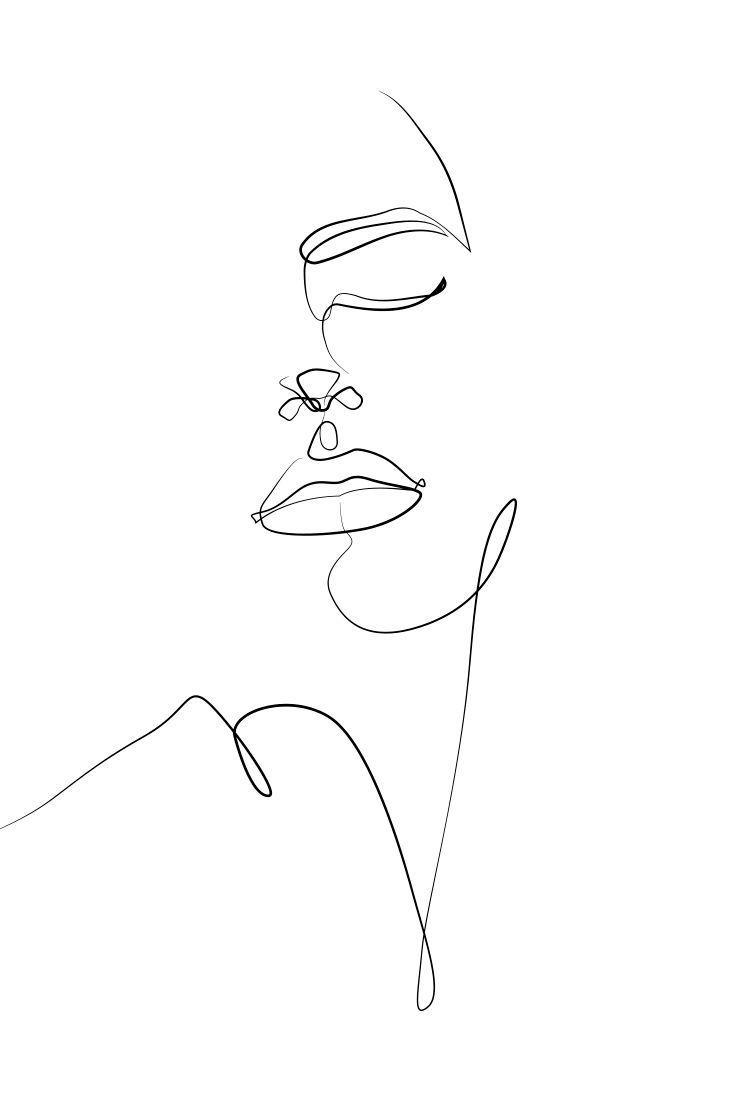 Photo of Elegant One Line Sketches #skizzenkunst Le meilleur blog d'idées pour les artistes. #ku …