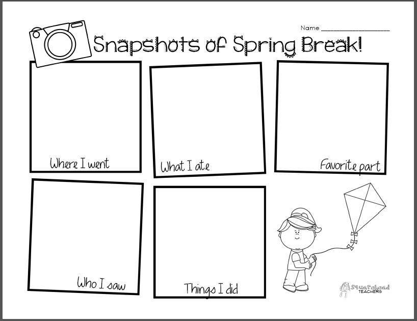 Snapshot Of Spring Break Writing Drawing Activity Spring Break Lesson Plans Spring Break Poetry For Kids