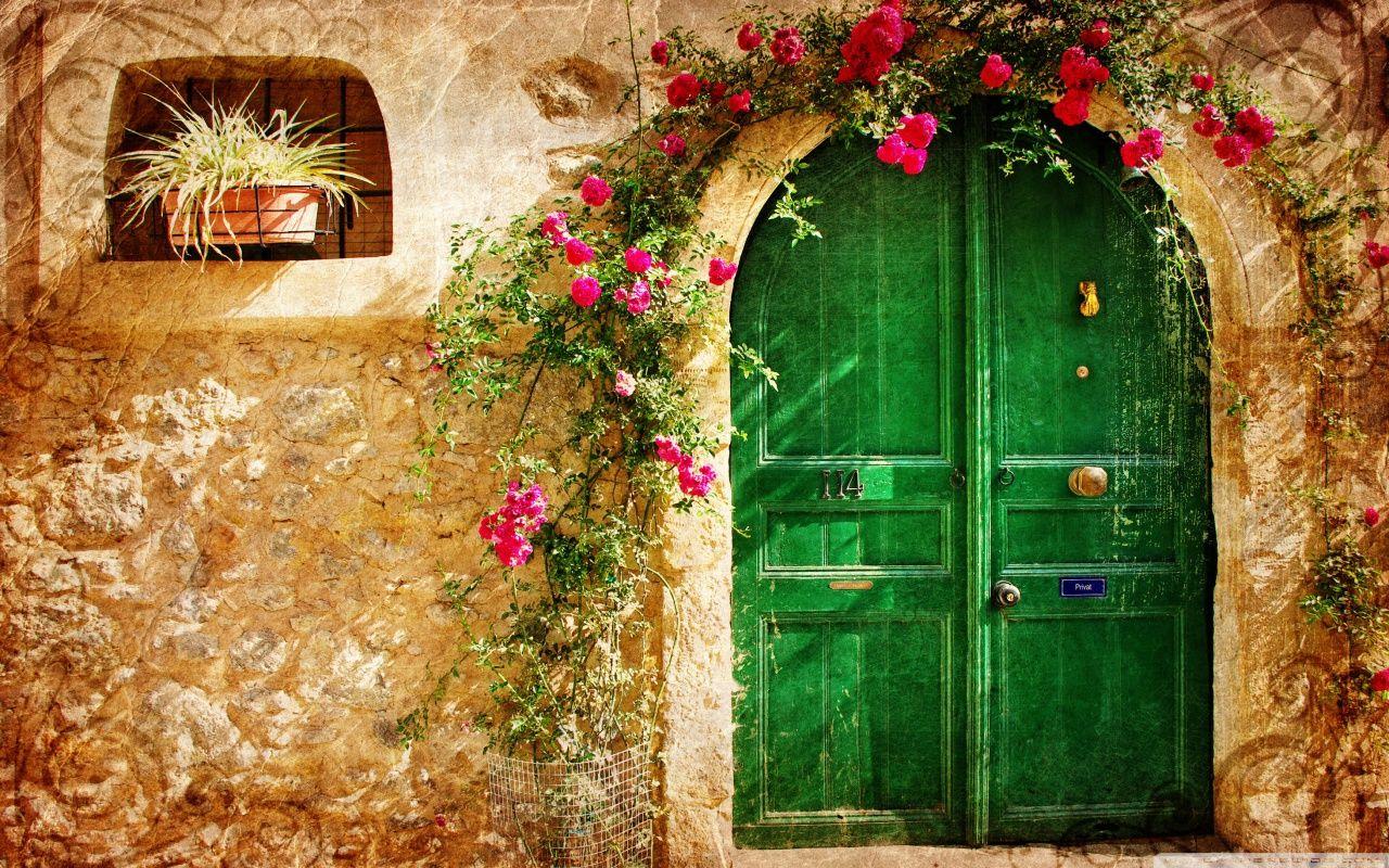 Wallpapers de flores vintage para bajar gratis a la pc 3 for Puerta wallpaper hd