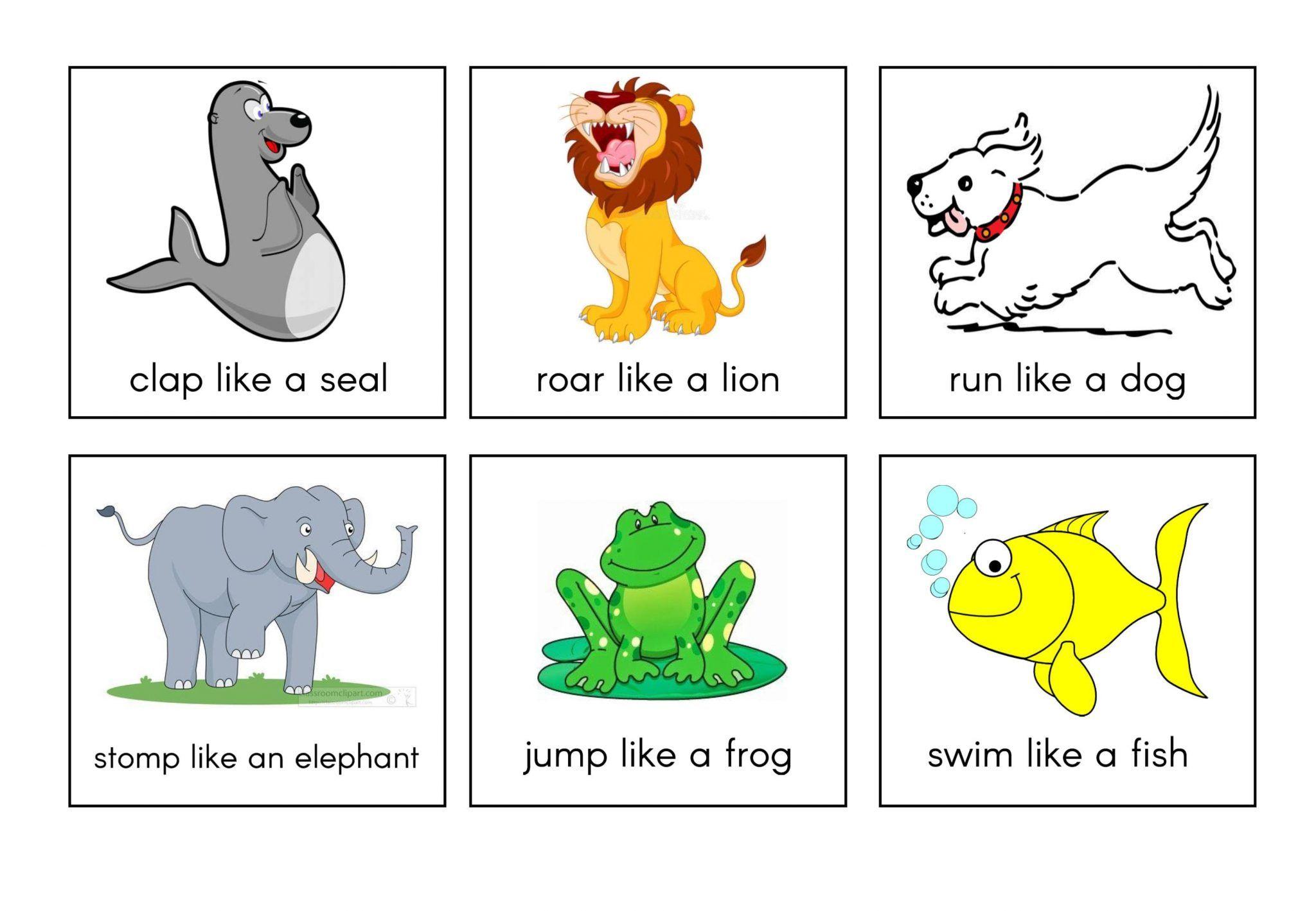 نشاط حركي Act Like An Animal ممتع لرياض الاطفال Comics Peanuts Comics Art