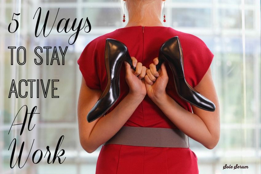 5 Ways To Stay Active At Work. These ideas are super easy to incorporate and will help make a BIG change in your work day. 20 squats an hour? I can totes do that.