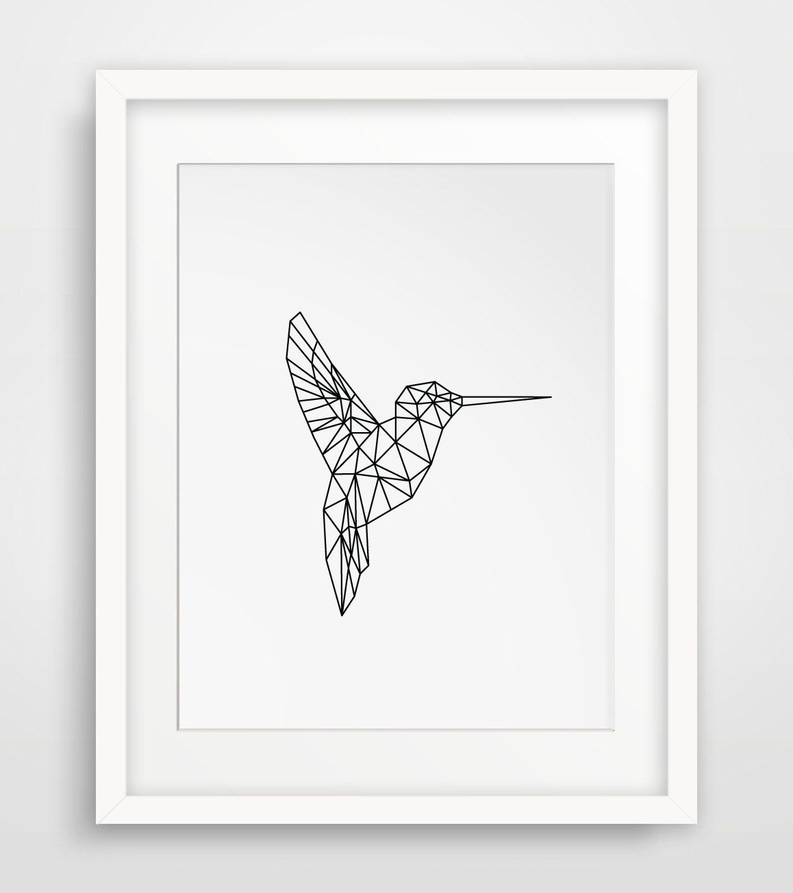 Hummingbird Most Popular Items Geometric Nursery Art Printable Nursery Prints Hummingbird