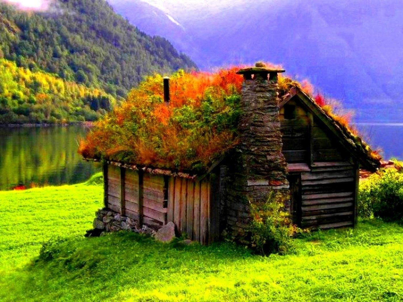 Small Cottage In The Middle Of The Beautiful Nature