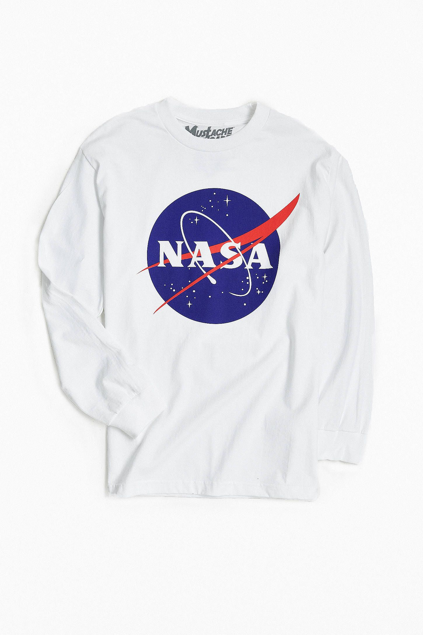 NASA Logo Long Sleeve Tee Baggy shirts, Nasa clothes