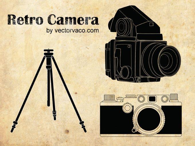 Camera Vintage Vector Free : Retro camera vector 12027 :: just my type :: pinterest retro
