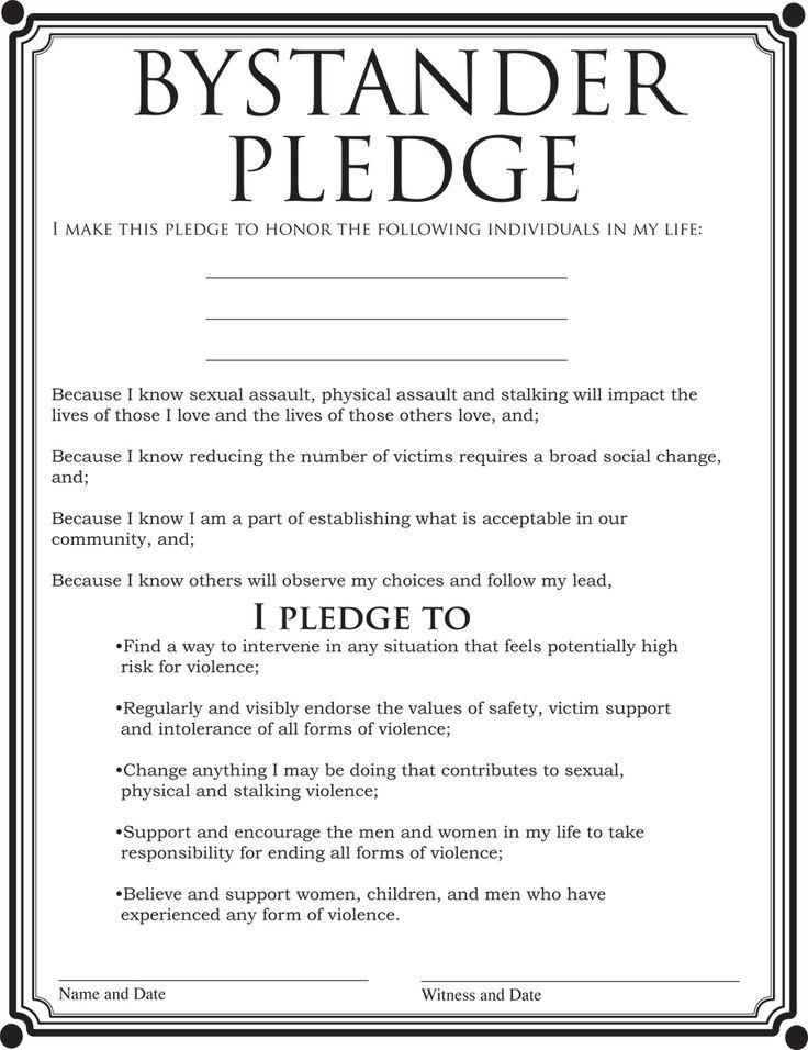 Image Result For Bystander Intervention Pledges  Residential Life