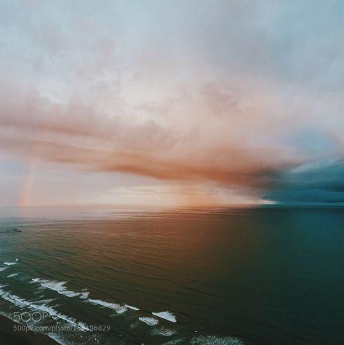Sunrise phenomenon. by nickverbelchuk  landscape sunrise nature beach travel coast abstract beautiful 500px explore drone Storm Washington