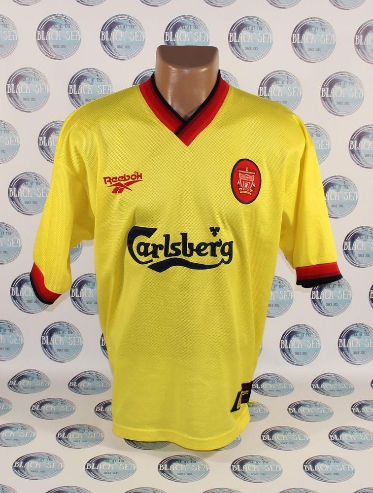 2568ce824c32 LIVERPOOL 1997 1999 AWAY FOOTBALL SOCCER SHIRT JERSEY TRIKOT CAMISETA  REEBOK  Reebok  Liverpool