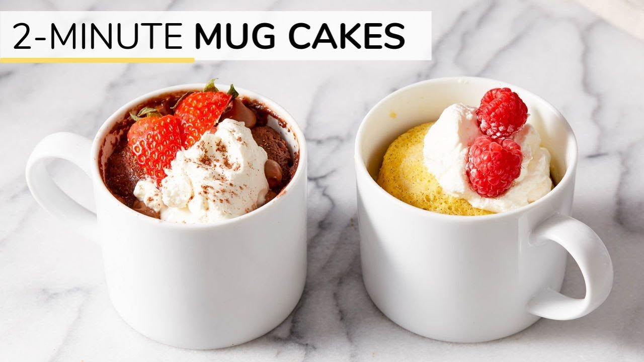 2-MINUTE CHOCOLATE + VANILLA MUG CAKE RECIPES | gluten ...