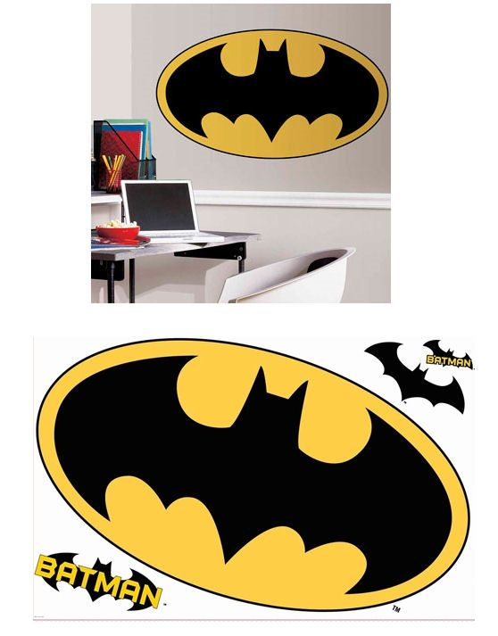 Batman Peel and Stick Giant LOGO Sticker - Wall Sticker Outlet | All ...