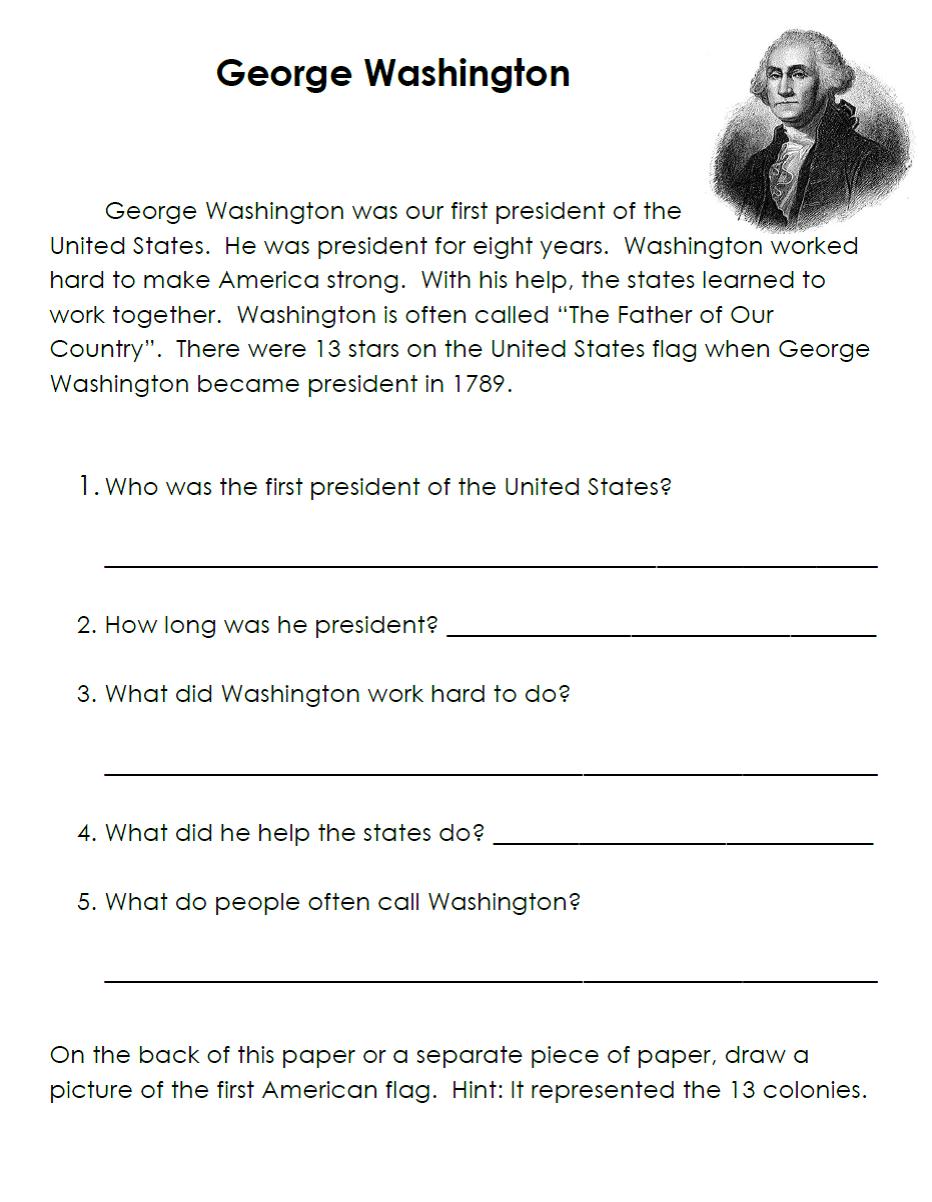 Worksheets George Washington Worksheets george washington reading comprehension descargardropbox family of educators february 2012 pinterest