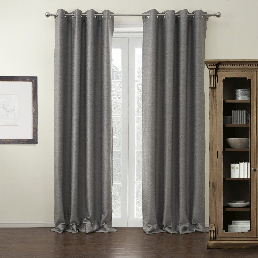 Modern grommet top curtains - Find This Pin And More On Grey Curtains Twopages Modern Grey Solid Grommet Top