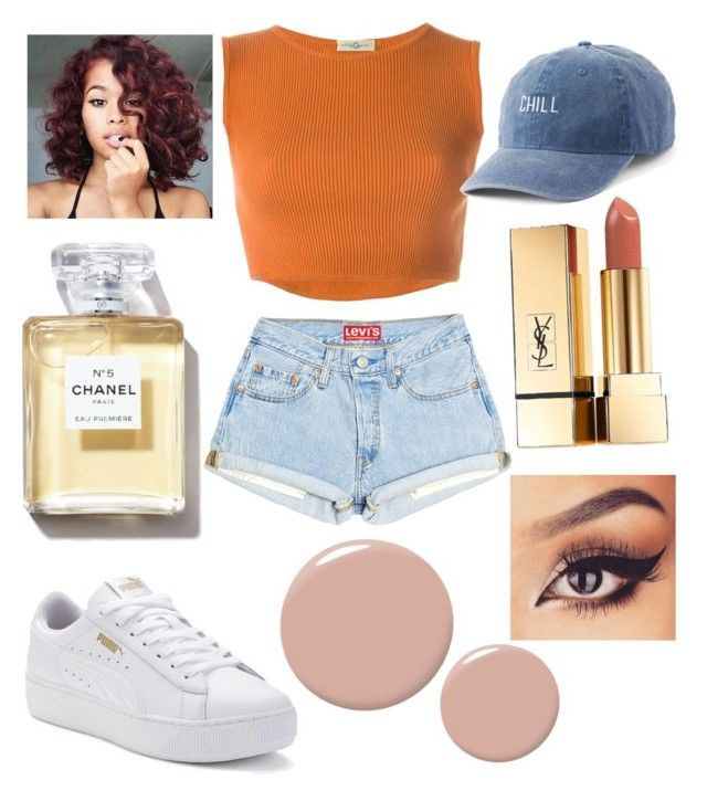 """""""R.G.G. #7"""" by amirah-lockett ❤ liked on Polyvore featuring Romeo Gigli, Puma, Christian Louboutin, SO and Yves Saint Laurent"""