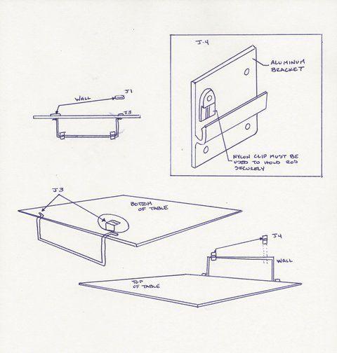 table hinge kit