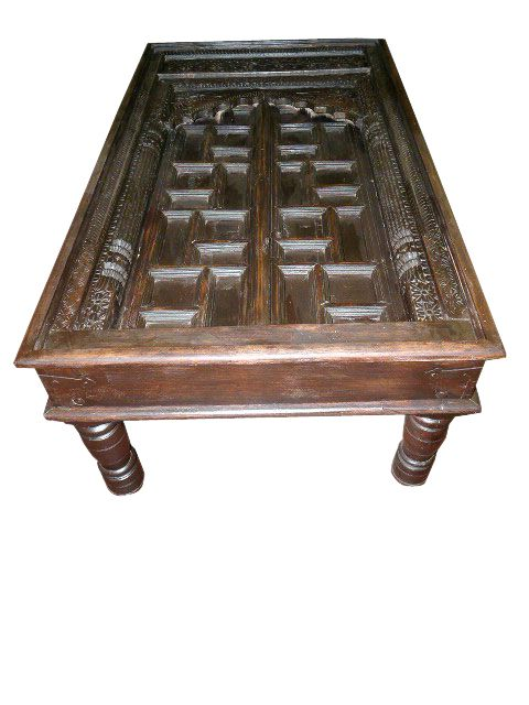 Antique Door Coffee Table Carved India Furniture I have suggested