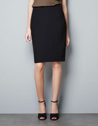 291beb6280 Zara Basic Pencil Skirt - Lyst | Fashion | Fashion, Zara skirts ...