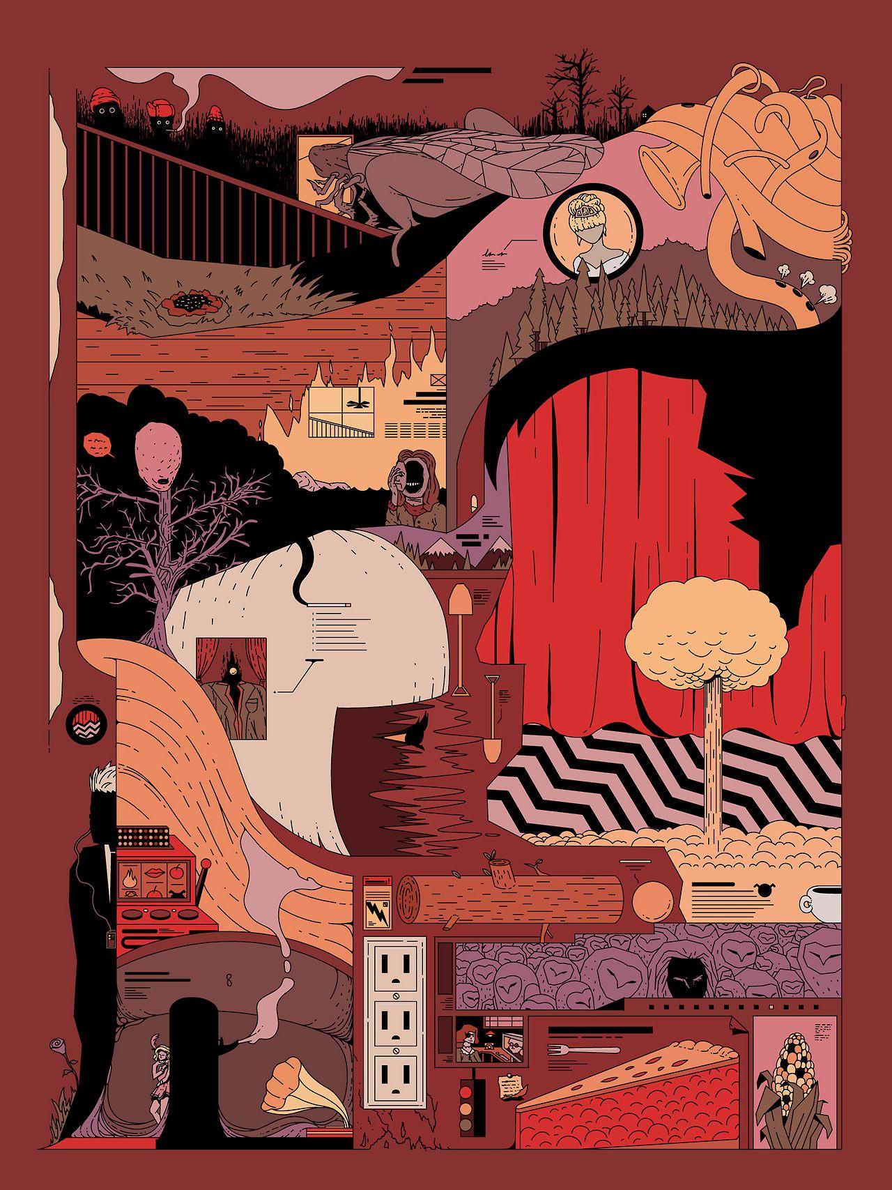 12x18 24x36 Twin Peaks TV Series Shows Season Classic Poster Art Print