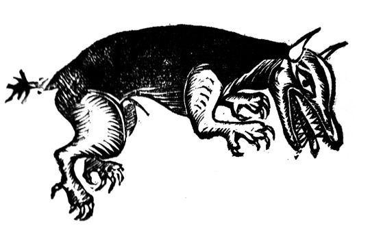 Beast of Gévaudan, the man-eating gray wolf, dog or wolfdog which terrorised south-central France, 1764