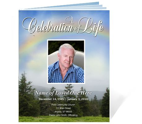 Funeral Booklets Promise Outdoor themed Legal Single Fold Booklet - funeral brochure template