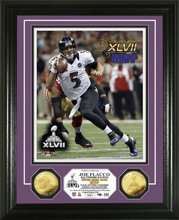 7092e7f33ce AAA Sports Memorabilia LLC - Baltimore Ravens Joe Flacco Super Bowl XLVII  MVP Gold Coin Photo