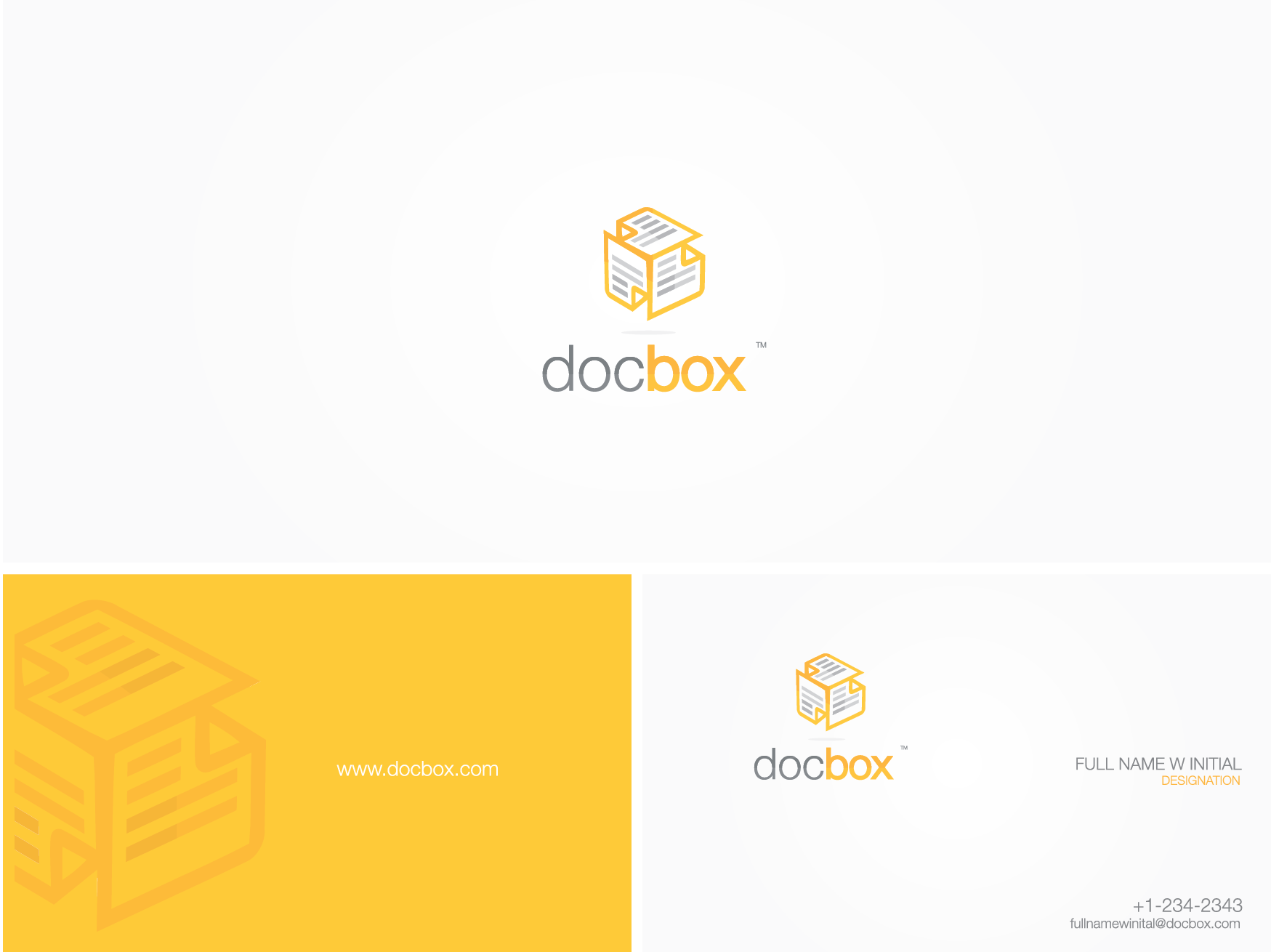 logo and business card doc box 99designs