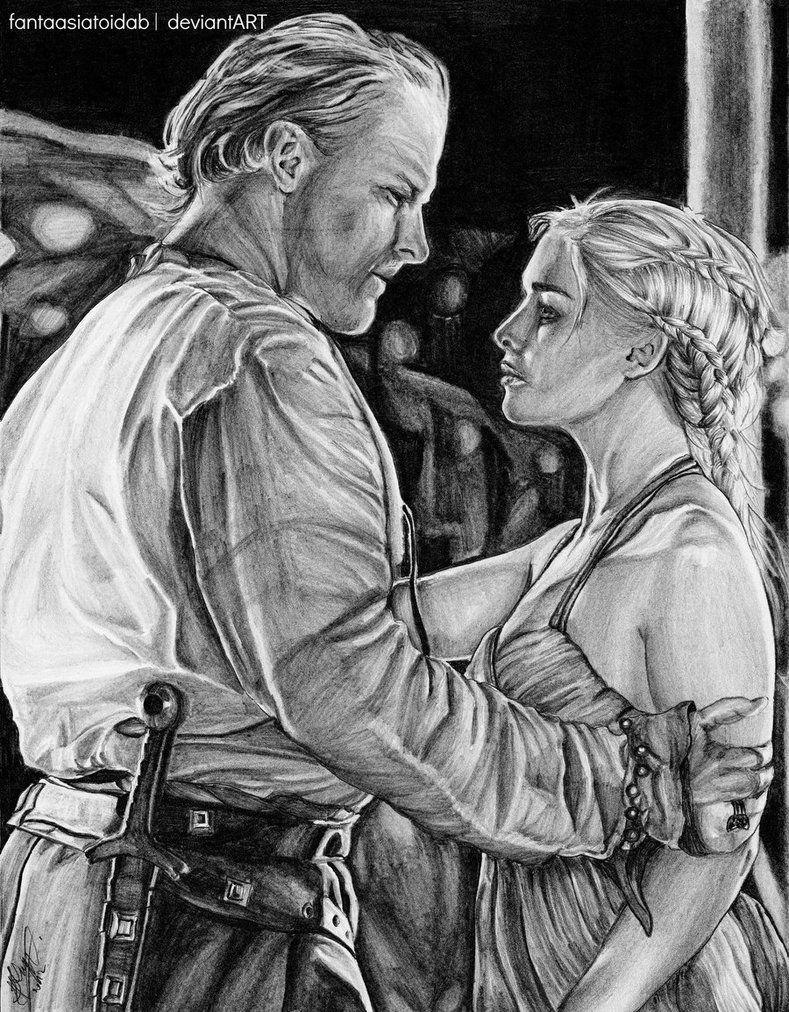 You have a gentle heart. Jorah and Dany by Fantaasiatoidab on DeviantArt