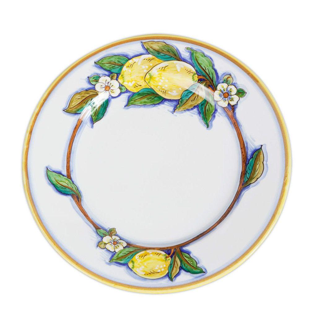 Italian Pottery Deruta Limone Dinner Plate Ceramic with Lemons  sc 1 st  Pinterest & Italian Pottery Deruta Limone Dinner Plate Ceramic with Lemons ...