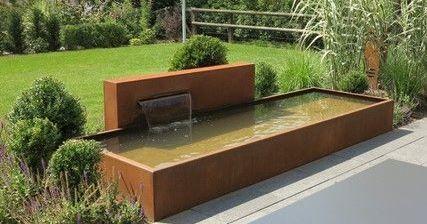 adezz garden water feature corten steel pond corten. Black Bedroom Furniture Sets. Home Design Ideas