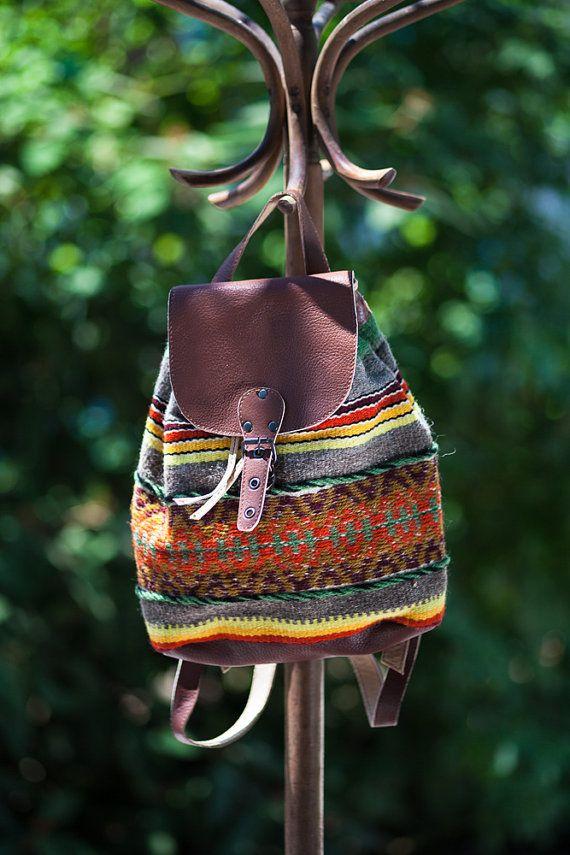 Handmade ladies backpack  handwoven in by Bulgarianrugsandbags, €50.00